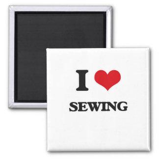 Imã Eu amo Sewing