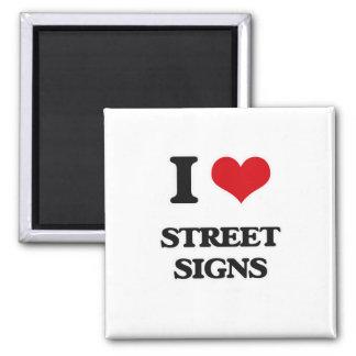 Imã Eu amo sinais de rua