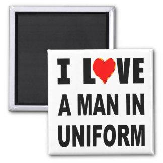 Imã Eu amo um homem no uniforme