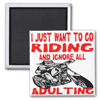 Imã Eu apenas quero ir montar e ignorar todo o