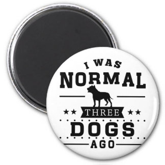 Imã Eu era três cães normais há