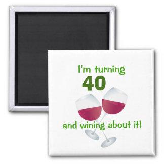 Imã Eu estou girando 40 e wining sobre ele ímã