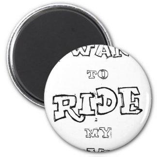 Imã Eu quero montar minha bicicleta