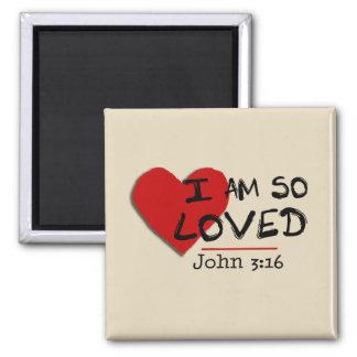 Imã Eu sou assim que ímã amado do 3:16 de John