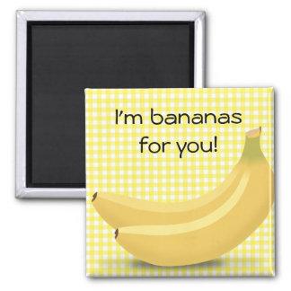 """Imã Eu sou bananas para você, ímã bonito do """"amor """""""