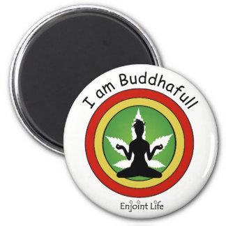 Imã Eu sou Buddhafull - ouro vermelho & verde em a