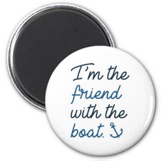 Imã Eu sou o amigo com o barco