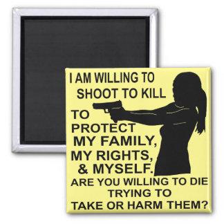 Imã Eu sou tiro disposto para proteger minha família &
