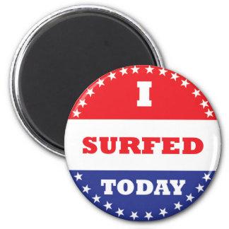 Imã Eu surfei hoje
