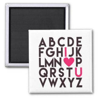 Imã EU TE AMO - alfabeto romântico