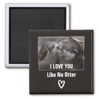 Imã Eu te amo como nenhuma foto bonito da lontra