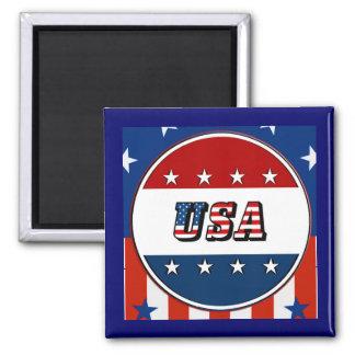 Imã EUA - A bandeira americana Stars o ímã do círculo