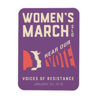 Ímã Evento do março SLO das mulheres 2018 janeiro