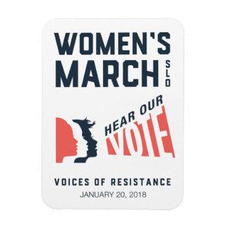 Ímã Evento do março SLO janeiro das mulheres