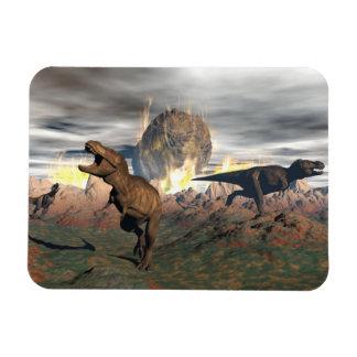 Ímã Exctinction do dinossauro do tiranossauro - 3D