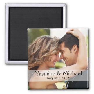 Imã Favor da lembrança do quadrado da foto do casament