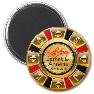 Imã Favor vermelho da microplaqueta do casino do preto