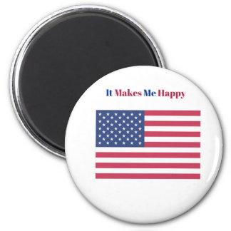 Imã Faz-me a bandeira americana feliz