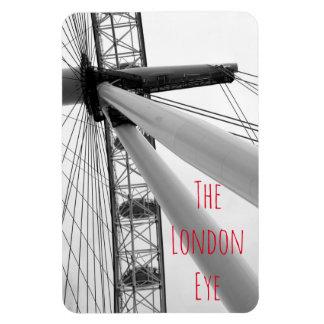 Ímã Feche acima do olho de Londres em preto e branco