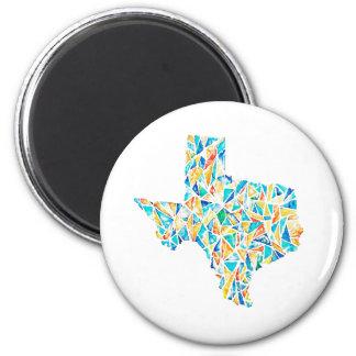 Ímã feito sob encomenda de Texas do vitral da Ímã Redondo 5.08cm