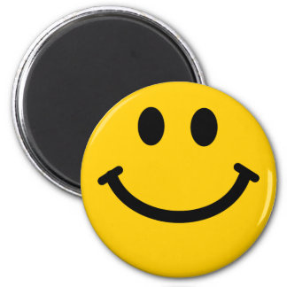 Ímã feliz amarelo do smiley face ímã redondo 5.08cm