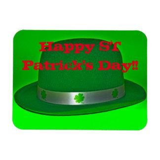 Ímã feliz do quadrado do Dia de São Patrício!!