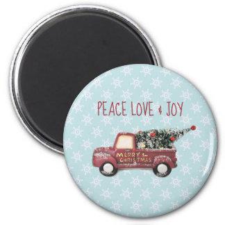 Imã Feliz Natal do caminhão do brinquedo do amor & da