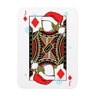 Ímã Feliz Natal Jack dos diamantes - adicione suas