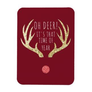 Ímã Festa natalícia do Natal dos Antlers dos cervos