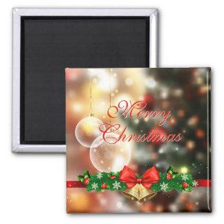 Imã Festão do pinho de Bokeh das luzes do Feliz Natal