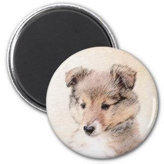 Imã Filhote de cachorro do Sheepdog de Shetland que