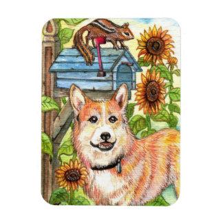 Ímã Filhote de cachorro e Chipmunk pela caixa postal
