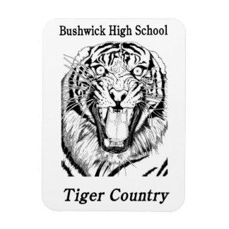 Ímã flexível do país do tigre de BHS Foto Com Ímã Retangular