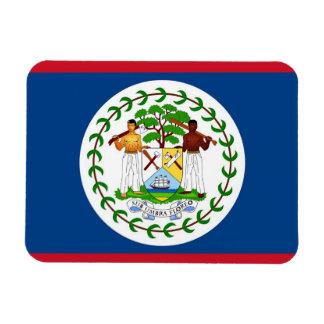 Ímã flexível patriótico com a bandeira de Belize