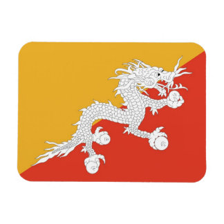 Ímã flexível patriótico com a bandeira de Bhutan