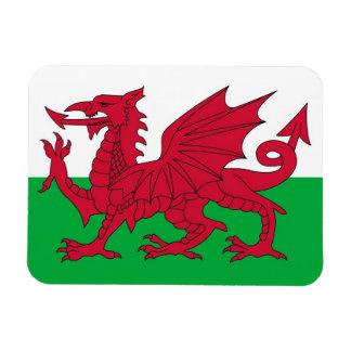 Ímã flexível patriótico com a bandeira de Wales