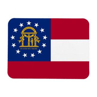 Ímã flexível patriótico com bandeira de Geórgia