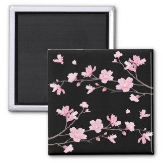 Imã Flor de cerejeira - preto