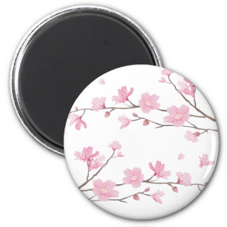 Imã Flor de cerejeira - Transparente-Fundo