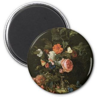 Ímã floral das belas artes ímã redondo 5.08cm
