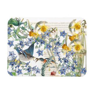 Ímã floral dos animais selvagens dos pássaros do