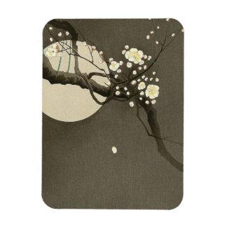 Ímã Flores da ameixa na noite por Ohara Koson elegante