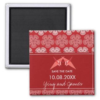 Imã Flores de cerejeira dos guindastes do papel que