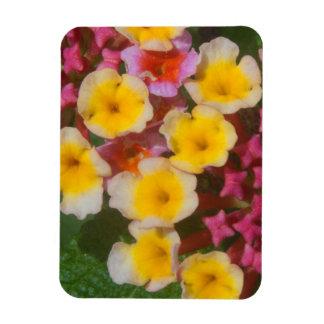 Ímã Flores tropicais amarelas pequenas com botões