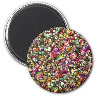 Imã Formas coloridas do abstrato 3D