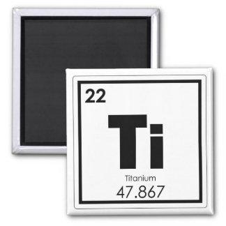 Imã Fórmula Titanium da química do símbolo do elemento