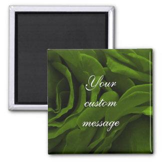 Imã Foto aveludado da flor dos rosas da verde azeitona