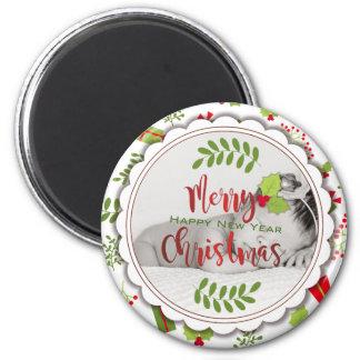 Imã Foto bonita dos presentes do roteiro do Natal