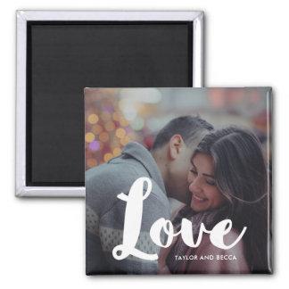 Imã Foto da tipografia do amor e ímã dos nomes