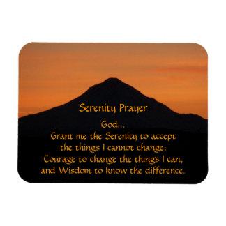 Ímã Foto do por do sol da montanha da oração da